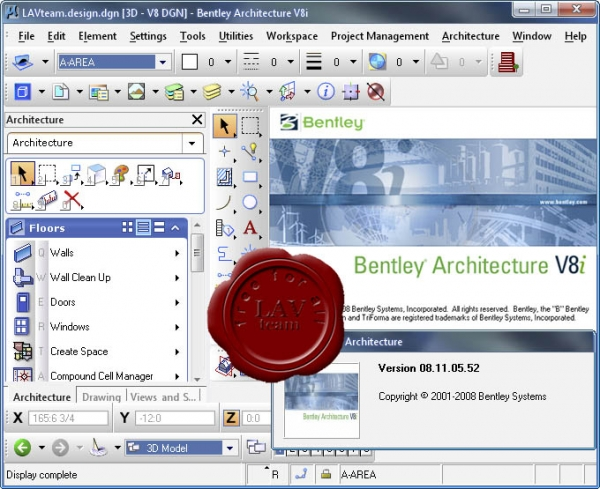 Bentley Architecture V8i XM v08.11.05.52