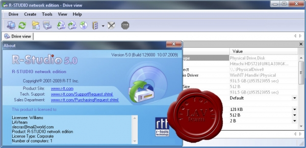 R-Tools Technology R-Studio v5.0 build 129000