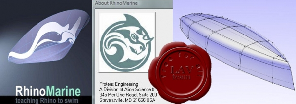 Proteus Engineering RhinoMarine v4.0.3 - plugin for Rhinoceros