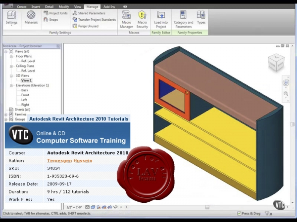 VTC Autodesk Revit Architecture 2010 Tutorials