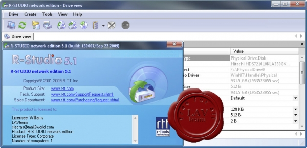 R-Tools Technology R-Studio v5.1.130007