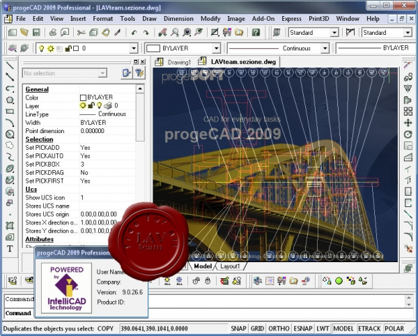 Progesoft ProgeCAD 2009 Professional v9.0.26.6 english RIP
