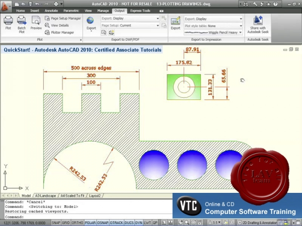 VTC Autodesk AutoCAD 2010: Certified Associate Tutorials