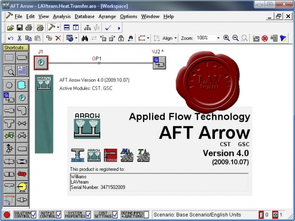 Applied Flow Technology Arrow v4.0.2009.10.07