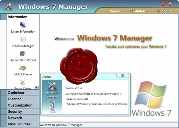 Yamicsoft Windows 7 Manager v1.1.4