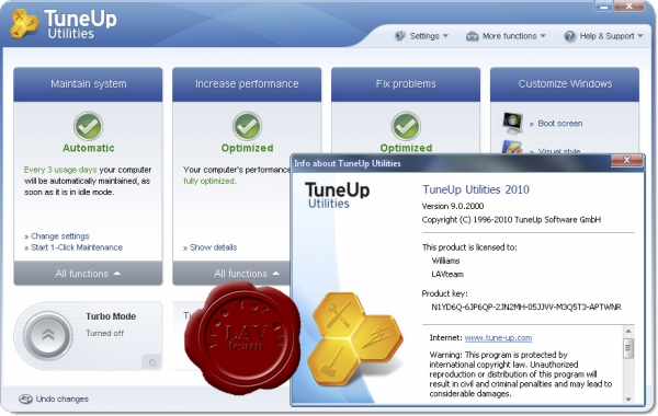 TuneUp Utilities 2010 v9.0.2000.16