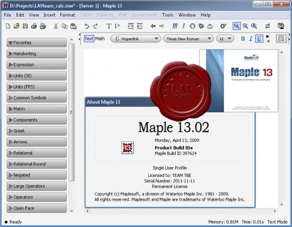 Update up to v13.02 for Waterloo Maplesoft Maple