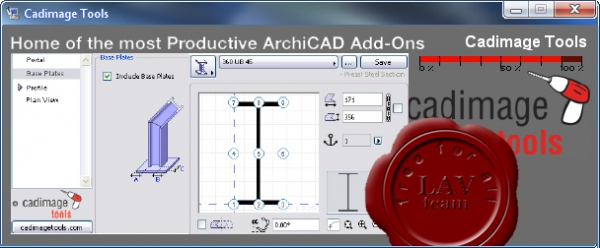 Cadimage Tools for Graphisoft Archicad v13
