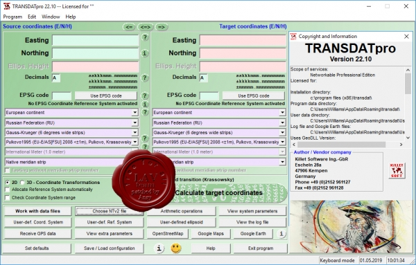 Killetsoft TRANSDAT Professional v22.10