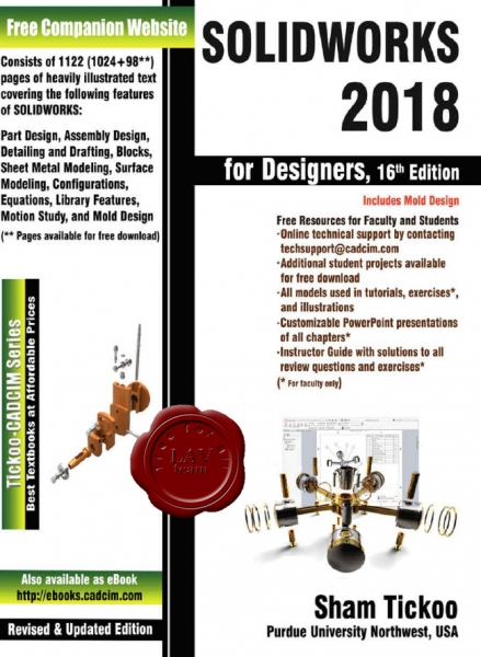 SolidWorks 2018 for Designers (16th Edition)