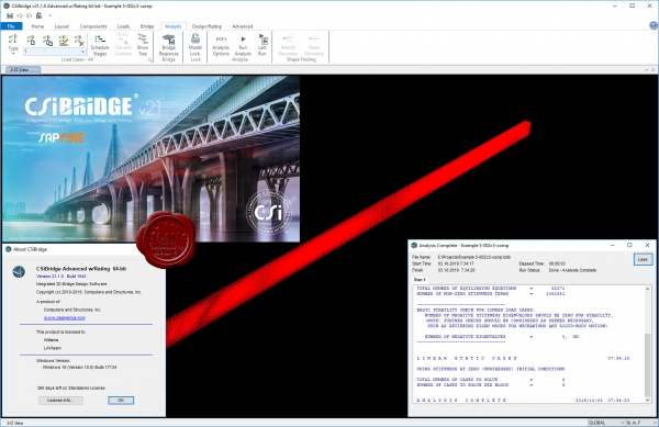 CSI Bridge Advanced v21.1.0 build 1543