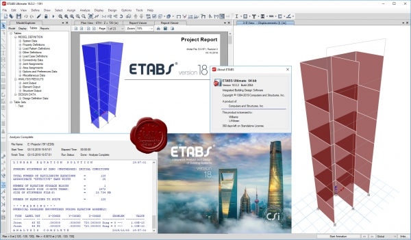 CSI ETABS v18.0.2 build 2064