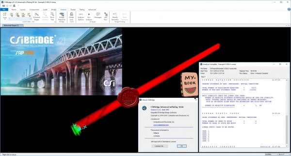 CSI Bridge Advanced w/Rating v21.2.0 build 1565