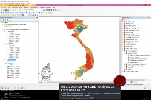 ArcGIS Desktop For Spatial Analysis: Go From Basic To Pro, 2019/10