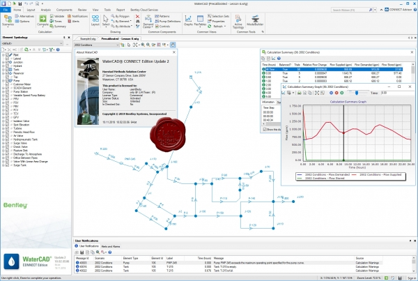 Bentley WaterCAD CONNECT Edition Update 2 10.02.03.06 build 19.11.2019