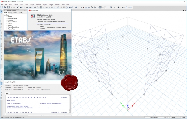 CSI ETABS v18.1.1 build 2148