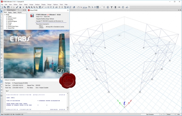 CSI ETABS v18.1.1 build 2148 x64 repack