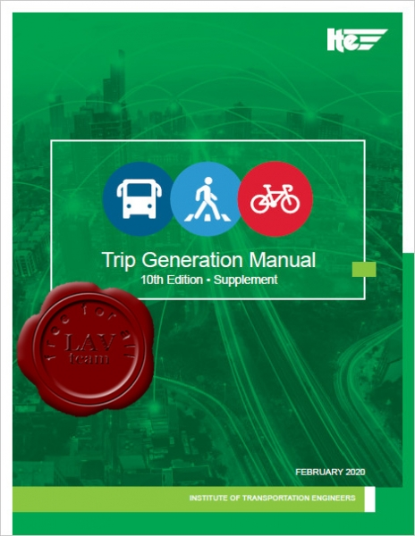 Trip Generation Manual 10th Edition, Supplement