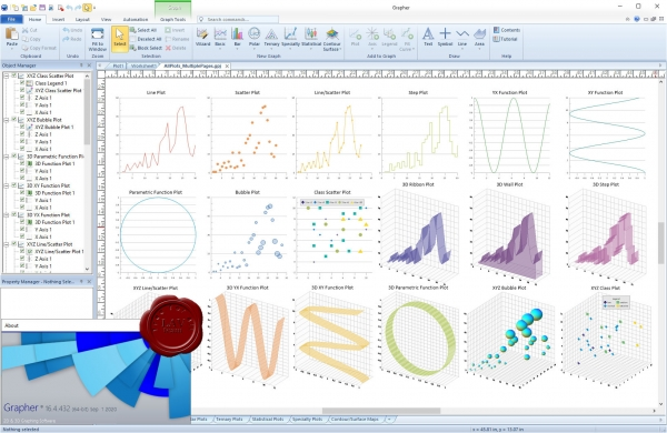 Golden Software Grapher v16.4.432