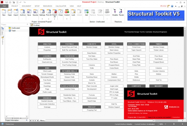 Anthony Furr Sofware Structural Toolkit v5.3.3.2