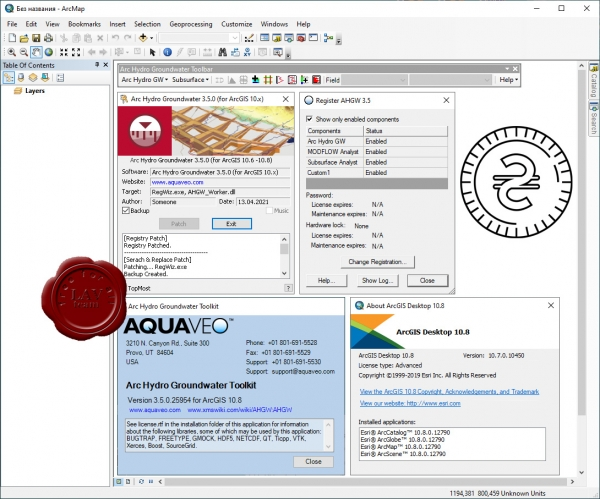 Aquaveo Arc Hydro Groundwater Toolkit v3.5.0.25954