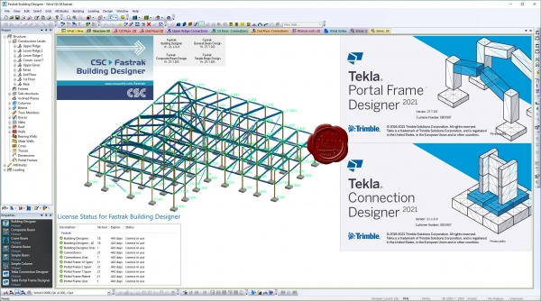 Trimble Tekla Portal Frame & Connection Designer (Fastrak) 2021 v21.1.0
